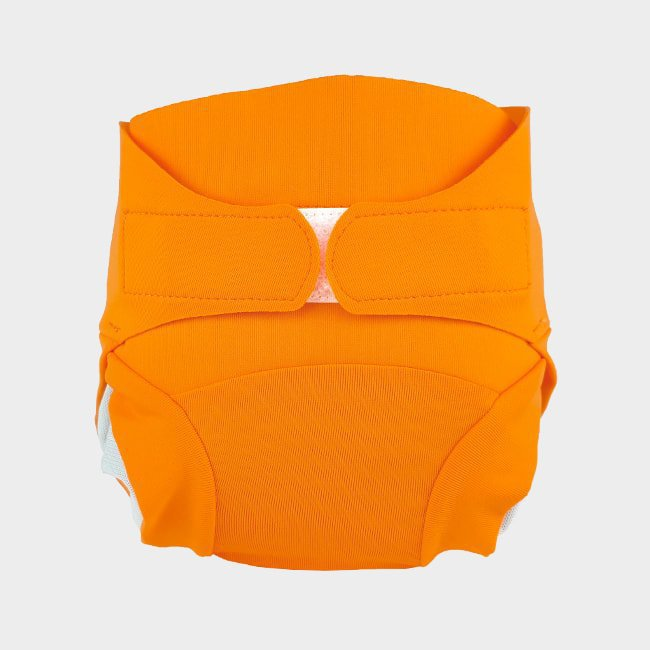 Couche lavable orange Oeko Tex
